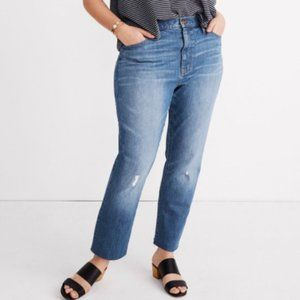 Madewell High-Rise Slim Crop Boy Jeans Sz 36